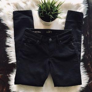 LOFT Curvy Skinny Black Jeans 24 00P EUC
